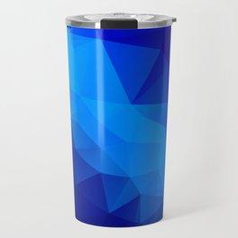 Abstract digital art polygon triangles Travel Mug