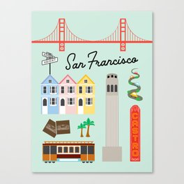 San Francisco Art Print Canvas Print