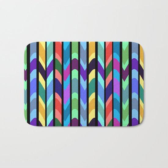 Waves and stripes Bath Mat