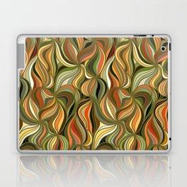 Boho Green & Red Wave Pattern Laptop & iPad Skin