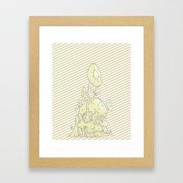 Skull earth bright Framed Art Print