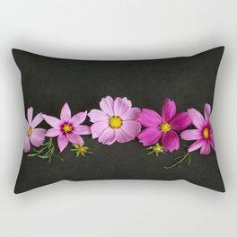 Cosmos on Black Rectangular Pillow