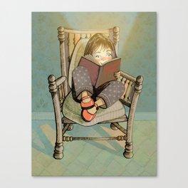 Reading enhances KNOWLEDGE Canvas Print