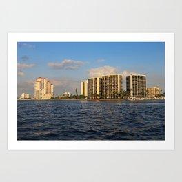 Shoreline in Fort Myers III Art Print