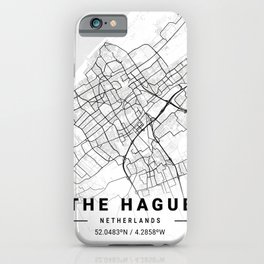 The Hague Light City Map iPhone Case