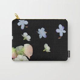 Sweet Pea, Daisy, Hydrangea Glitch Carry-All Pouch
