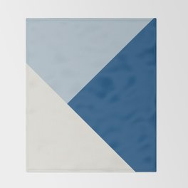 Baby Blue meets Classic Blue & Coconut Milk Geometric #1 #minimal #decor #art #society6 Throw Blanket