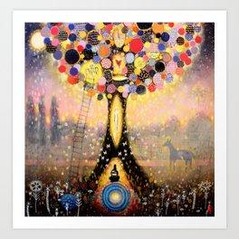 Swefn Treow ( The Dreaming Tree ) Art Print