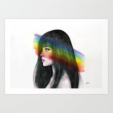 Rainbow reflection Art Print