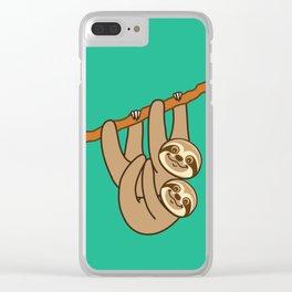 Cute Sloths!! Clear iPhone Case