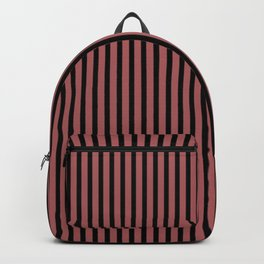 Dusty Cedar and Black Stripes Backpack
