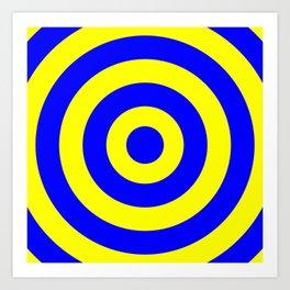 Target (Blue & Yellow Pattern) Art Print