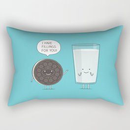 Cookie love milk Rectangular Pillow