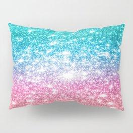 Mermaid Galaxy Sparkle Stars Pillow Sham