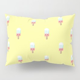 Kawaii melting popsicle pattern Pillow Sham