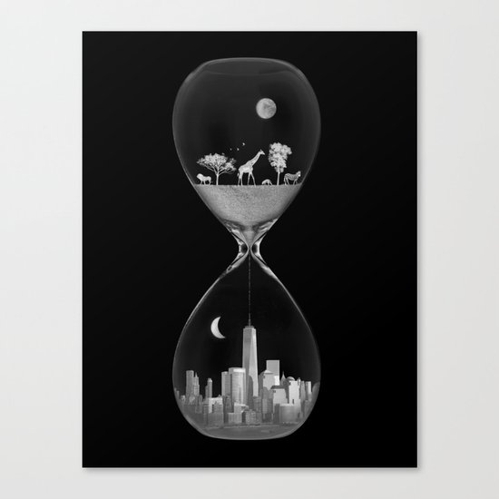 THE EVOLUTION OF THE WORLD b/w Canvas Print