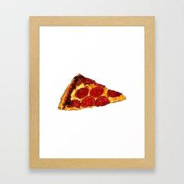Pepperoni Pizza Framed Art Print