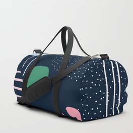 Colorful Contemporary Geometric Composition Duffle Bag