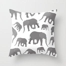 Elephant Pattern Design Throw Pillow