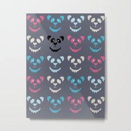 Panda Commotion Metal Print