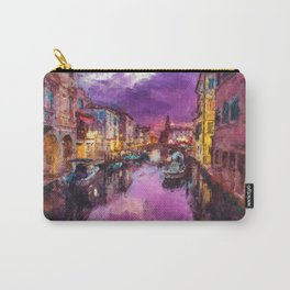 Twilight On Venice Canal Carry-All Pouch