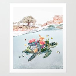 Coral Turtle • Save the Planet Art Print