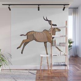 Geometric Antelope Wall Mural