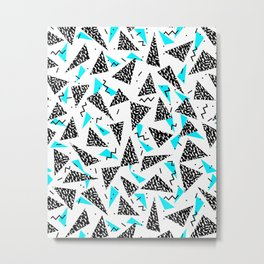 Missy - 80s Retro, Throwback Memphis Inspired Design Metal Print