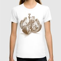 yetiland T-shirts featuring Steampunk Orange  (color option) by Eric Fan