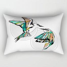 Art Deco Birds Rectangular Pillow