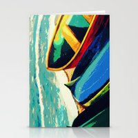 boats Stationery Cards featuring Boats by Christina Rowe