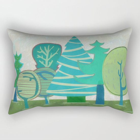 I have  only a small forest Rectangular Pillow