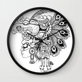 Mayan Warrior Wall Clock