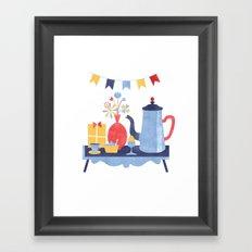 Breakfast in Bed Framed Art Print