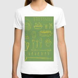 Gardening and Farming! - illustration pattern T-shirt