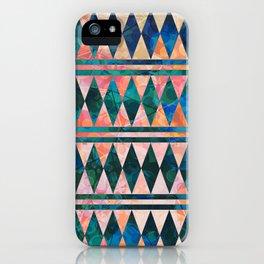 Decorative Multi-color Diamond Pattern Design iPhone Case