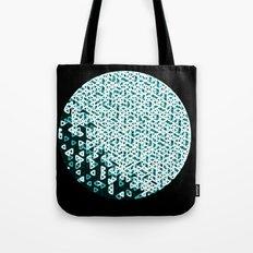 Glowing Green Circle Tote Bag