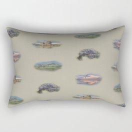 Highland landmarks in beige Rectangular Pillow