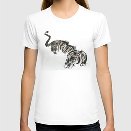 tiger watercolor japan style chinese ink T-shirt
