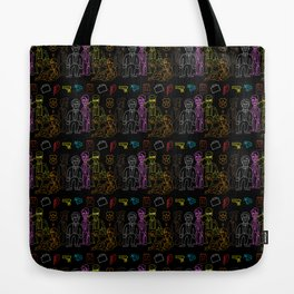Res Dogs Rainbow Pattern Tote Bag