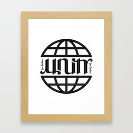 Unity Ambigram for Boston Framed Art Print