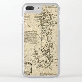 Map Of Bermuda 1750 Clear iPhone Case
