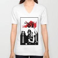 oz V-neck T-shirts featuring Reservoir Oz by Bill Bushman