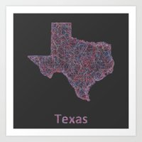 texas Art Prints featuring Texas by David Zydd