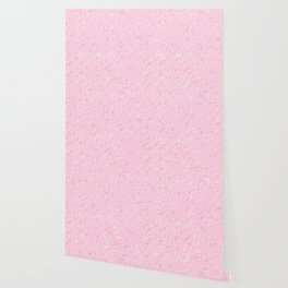 cute soft pink abstract background illustration with colorful spots and blots Wallpaper