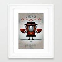 libra Framed Art Prints featuring LIBRA by Angelo Cerantola