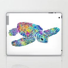 colorful Sea Turtle Laptop & iPad Skin