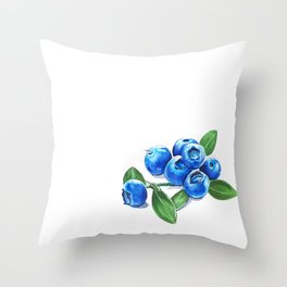 Bunch o' Blueberries Throw Pillow