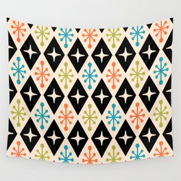 Mid Century Modern Atomic Triangle Pattern 922 Wall Tapestry