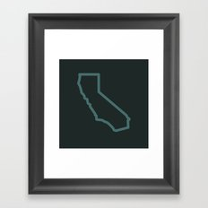 California State Framed Art Print